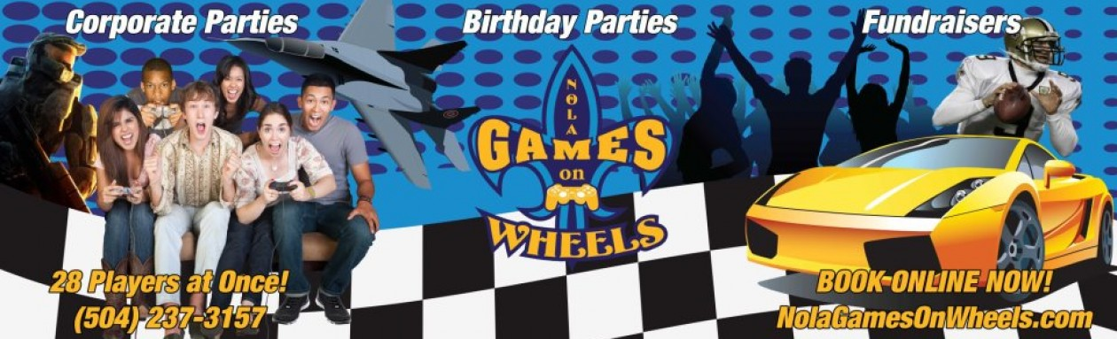 Nola Games On Wheels New Orleans Video Game Truck & Laser Tag Birthday Party Experts